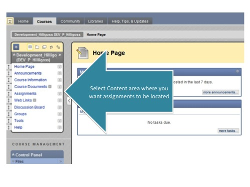 Select Content Area