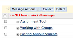 Discussion Board Checkbox