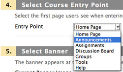 Course Entry Point