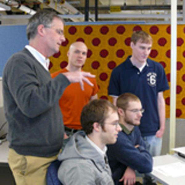 Bruce MacLeod and computer science students