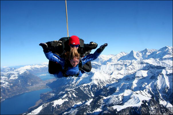 Sky Diving over the Swiss Alps