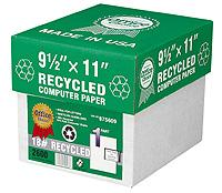 Paper made from recycled paper reduces waste and saves trees!
