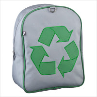 This bag is made from recycled plastic and can be used to prevent other bags from being thrown away