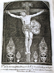 etched plate showing the miraculous image