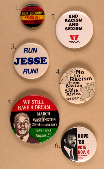 African American Political Buttons