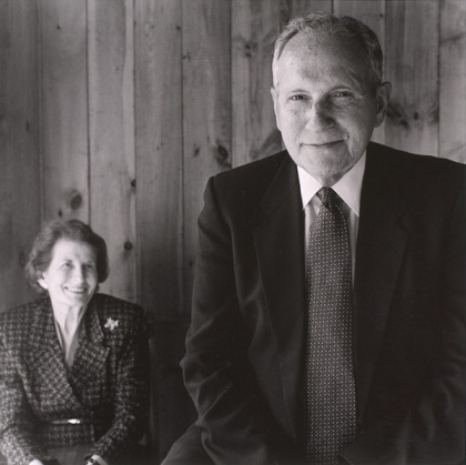 Photograph of Sumner and Rosalyne Bernstein (whose papers are in the Judaica Collection) Photograph courtesy of Jack Montgomery