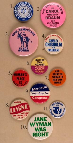 Slogan and Chauvinism buttons