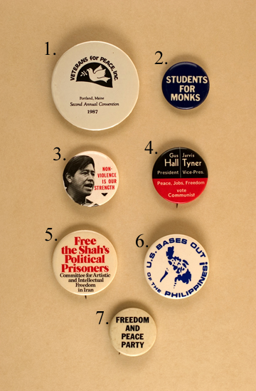 Non-Violence buttons