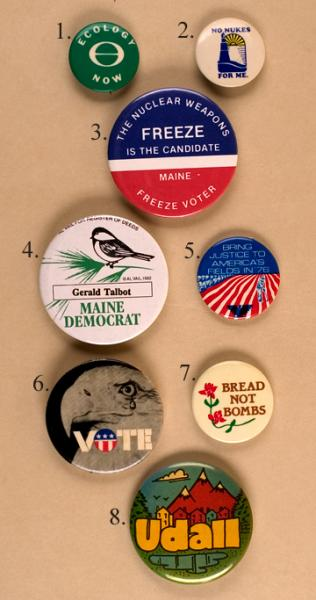 Slogan and Ecology buttons