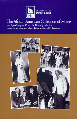 cover of the african american collection of maine brochure click to