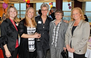 Lauren Webster, Hannah Schwenk Sandau, Wendy Chapkis, Susan Feiner, Congresswoman Chellie Pingree