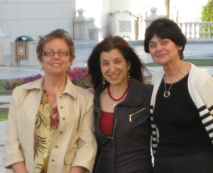 Professor Susan Feiner, Profesor Nawar Golley and Professor Christine Holden at the American University of Sharjah