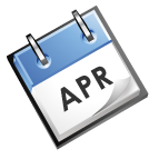 calender image that says Apr