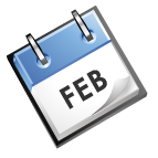 calender image that says Feb