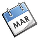 calender image that says Mar
