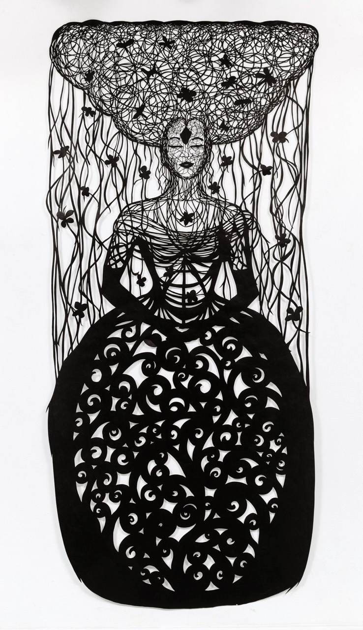 Paper Cutting of woman by Beatrice Coron