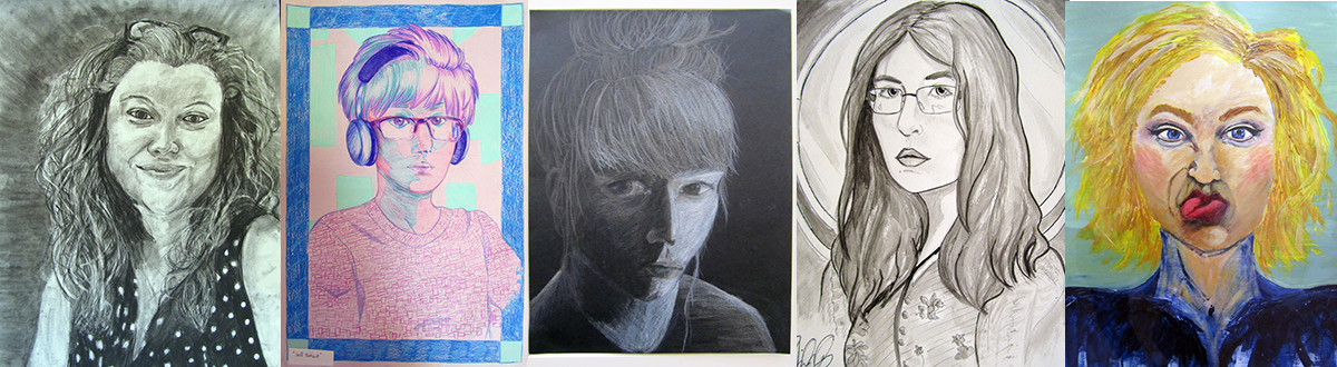 Examples of Student Self Portraits