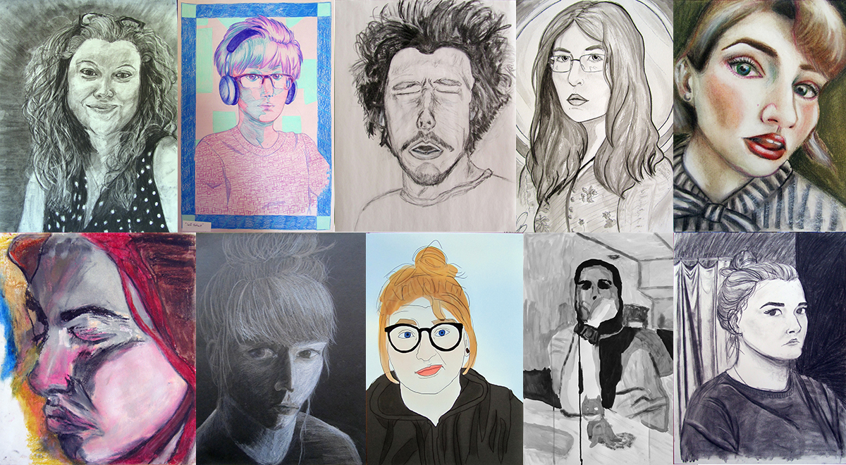 Examples of Self Portait Student Work