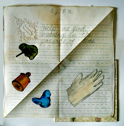 Image of Mixed Media Hankercheif Book