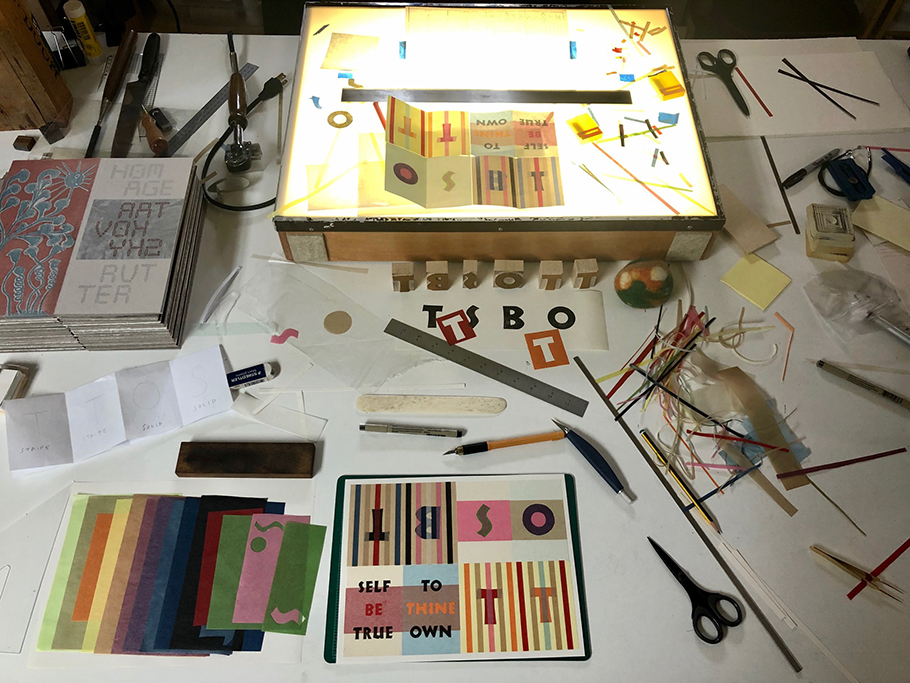 Walter Tisdalle's Book-making Work Table