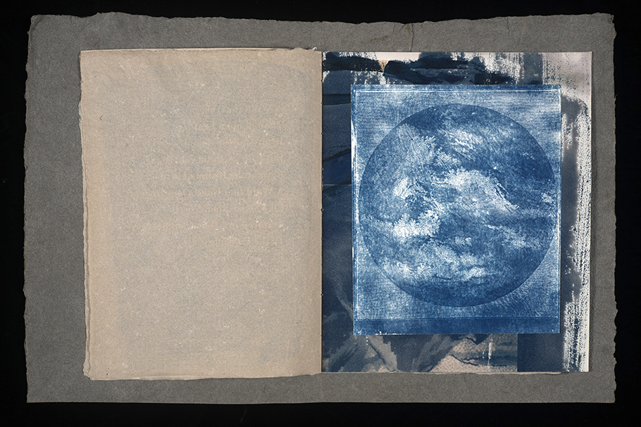 Cyanotype Book Page