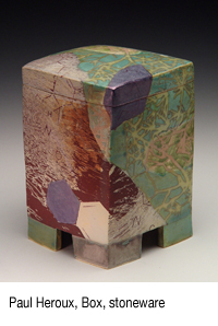 Paul Heroux, Box, stoneware
