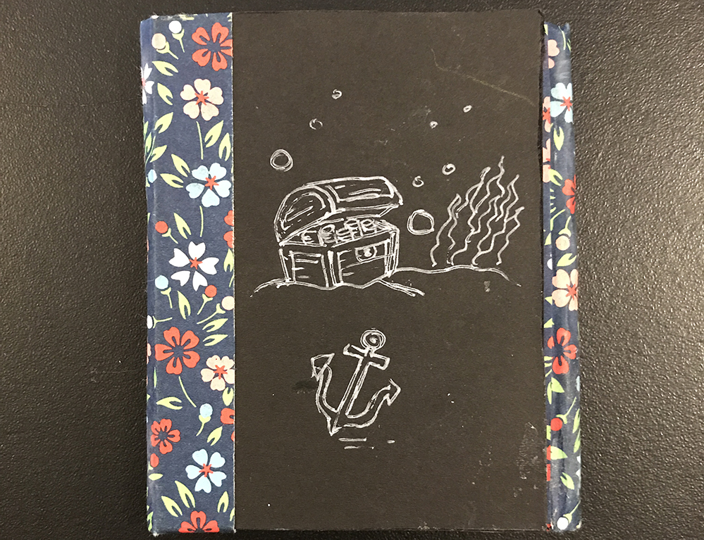 "Dos-á-dos book; Mixed Media, 3"" x 4"""