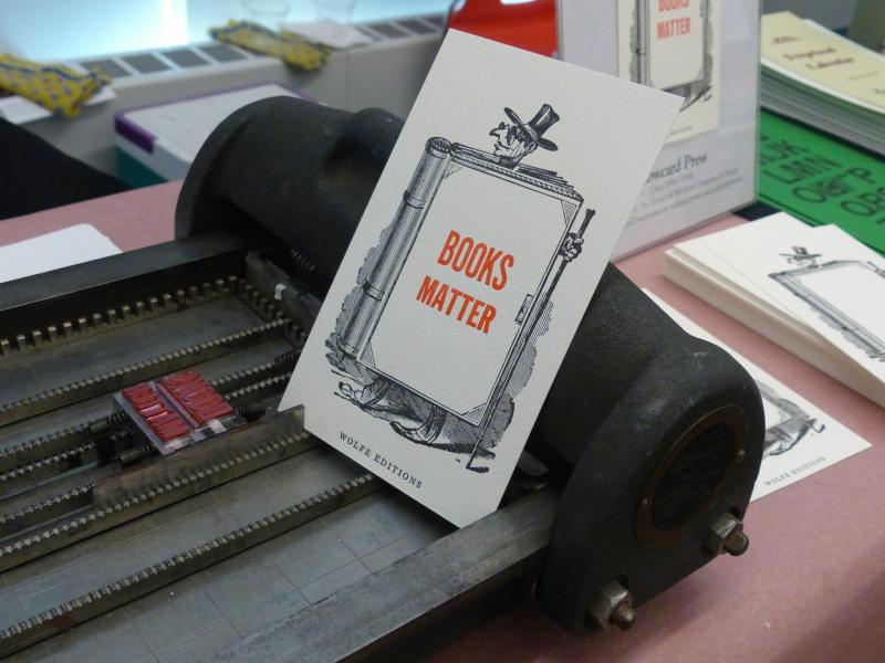 Printed Poster Stating Books Matter on Printing Press