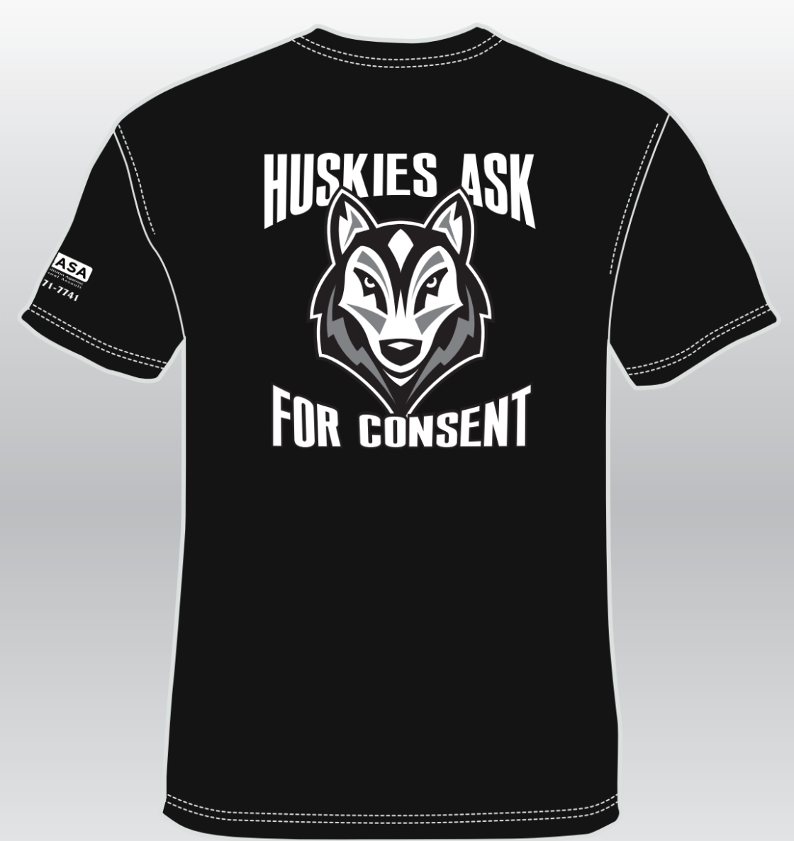 Huskies Ask For Consent Tshirt