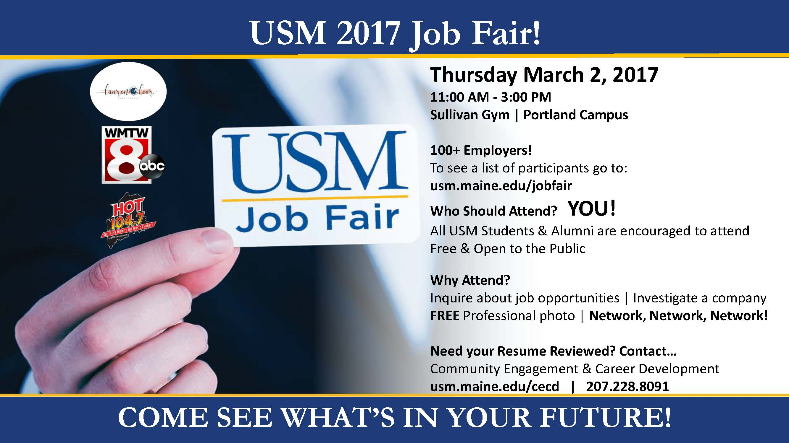 usm job fair community engagement and career development image 2017 usm job fair 2