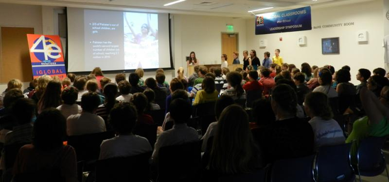Students present at iGlobal Institute Symposium at USM's Muskie School