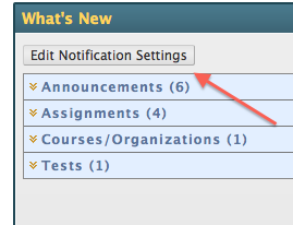 edit notification settings