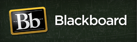 The Blackboard logo. The word Blackboard on a black, chalkboard-like background. To the left of the word is a gold round-cornered rectangle with a capital B and lowercase b on a black background.