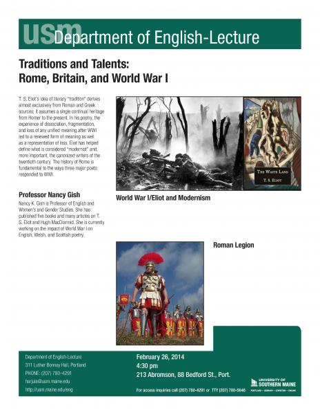 Professor Gish to give lecture on Rome, Britain, and WWI