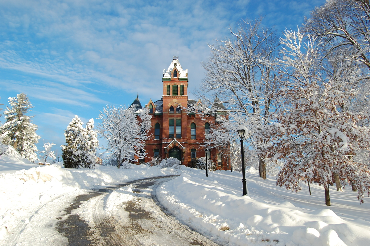 Winter on USM Gorham Campus