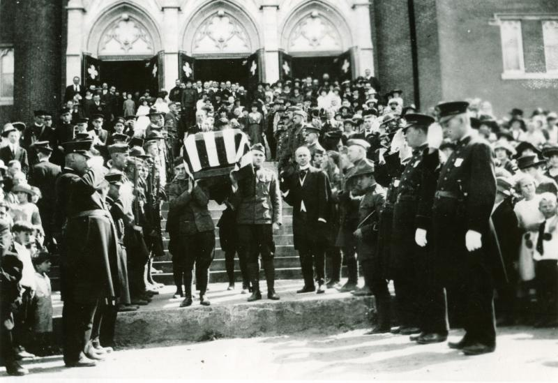 Funeral of Edmond Leblond, 1918