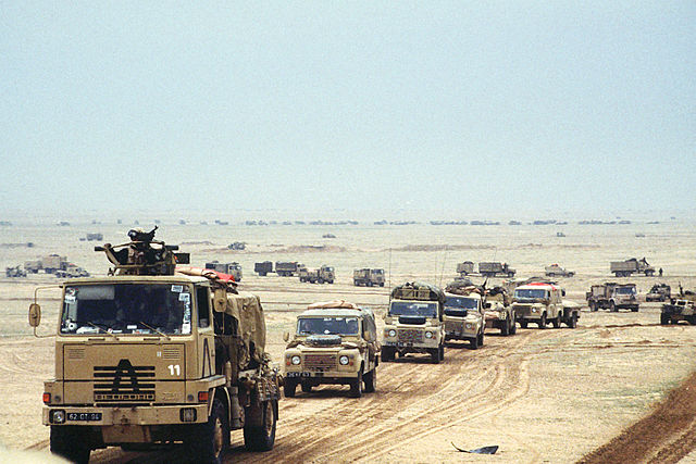 British Army Convoy. Gulf War