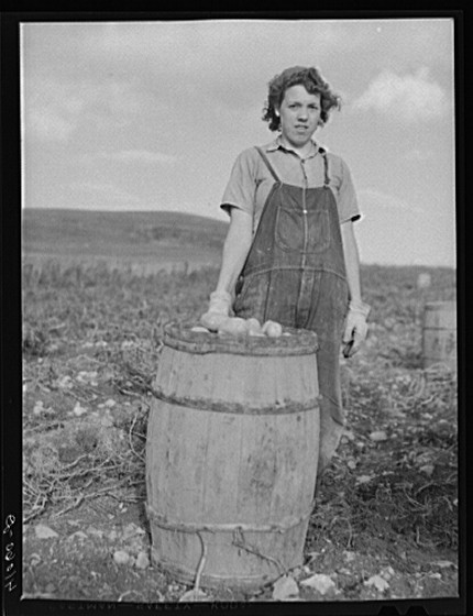 Daughter of Zepherin Jeandreau, St David, ME, 1940