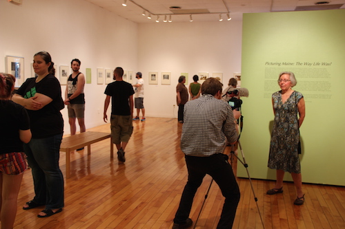 Donna Cassidy interviewed at Picturing Maine exhibition