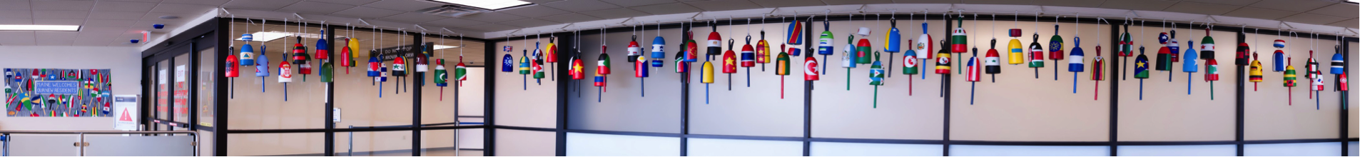 Buoys at Portland Jetport panorama