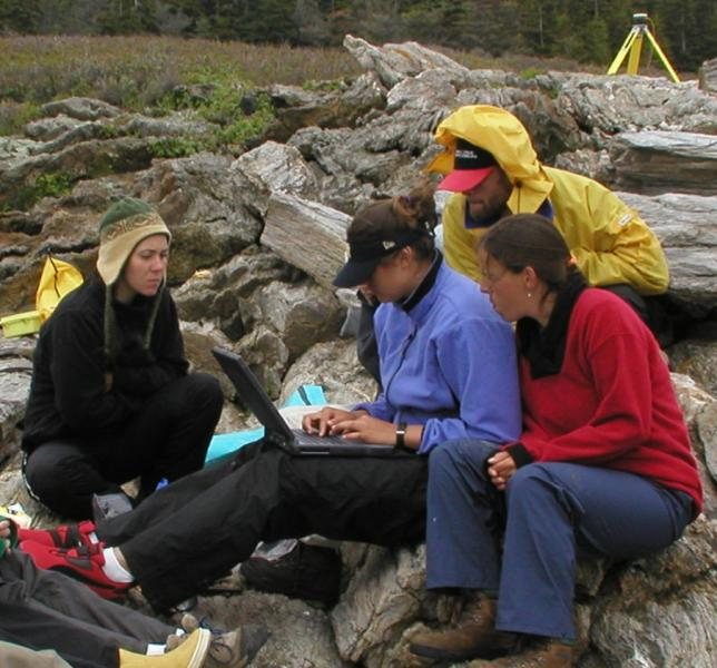 Geography-Anthropology students doing fieldwork