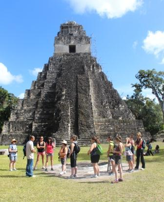 Students at Tikal