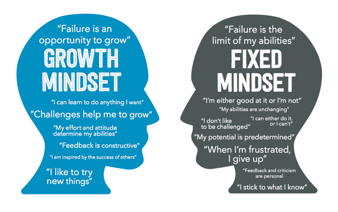 Comparison of growth versus fixed mindset