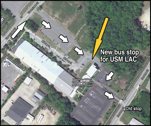 map of new bus stop