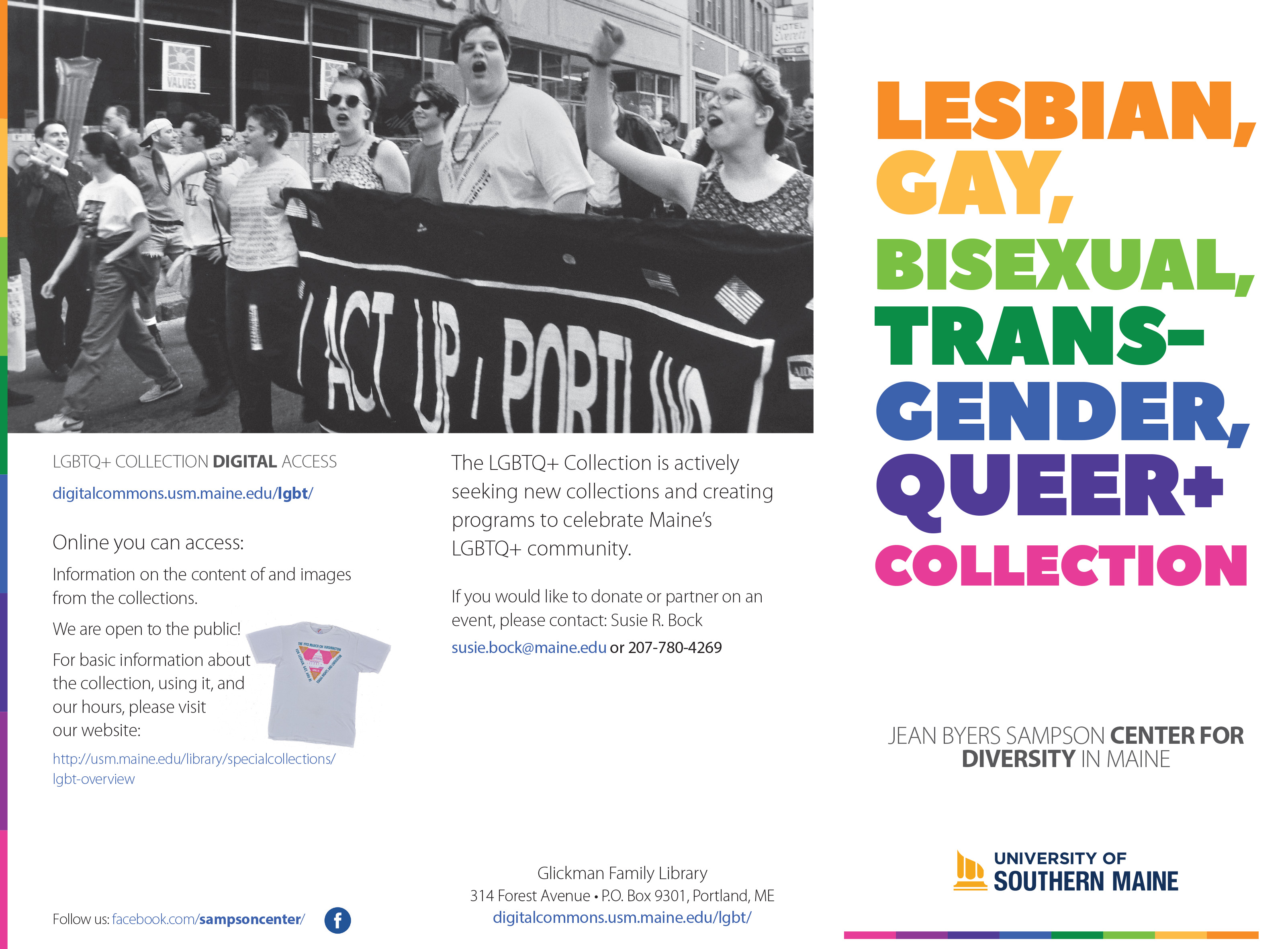 First page of LGBTQ+ Collection brochure by Holly Valero