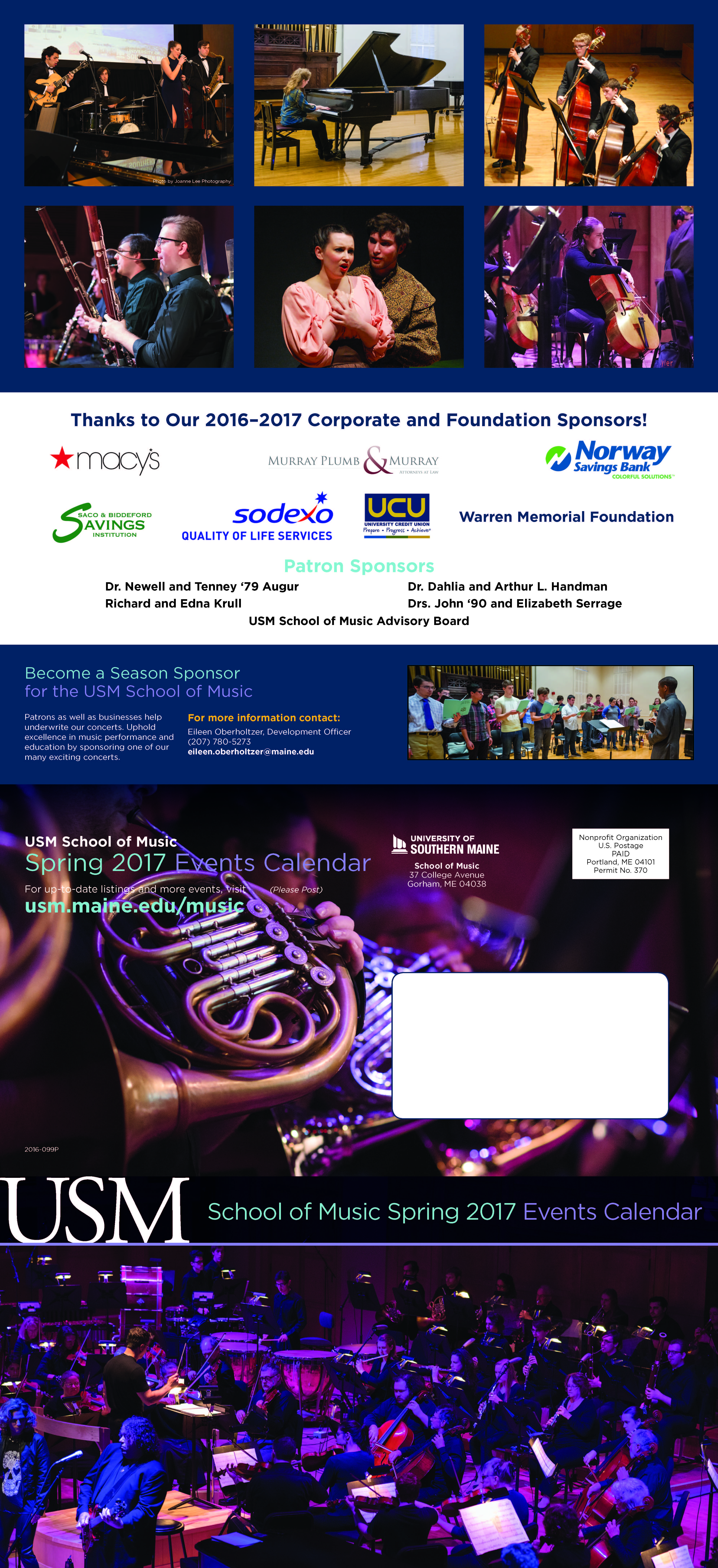 2017 Spring Music Brochure, page 2