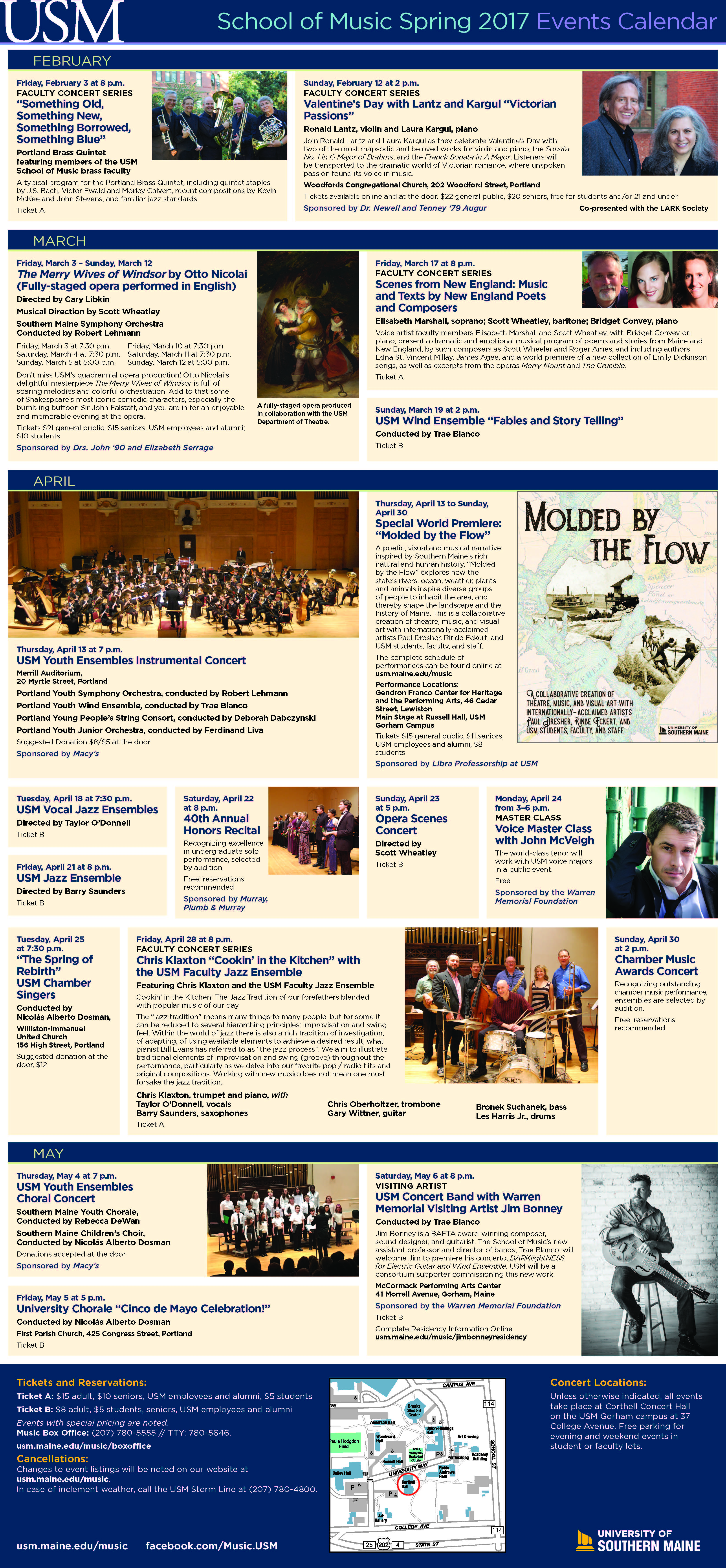 2017 Spring Music Brochure, page 1