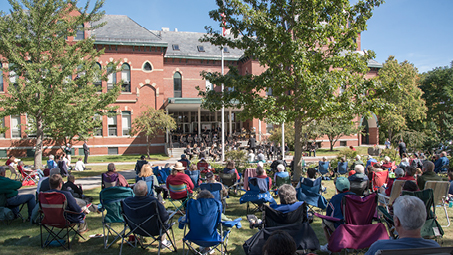 Old Fashioned Outdoor Band Concert