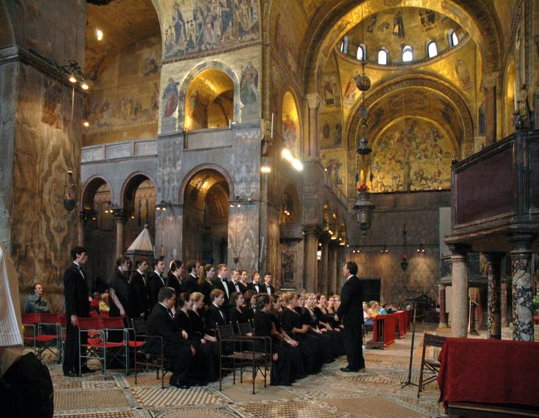 Chamber Singers at St. Marks, Venice