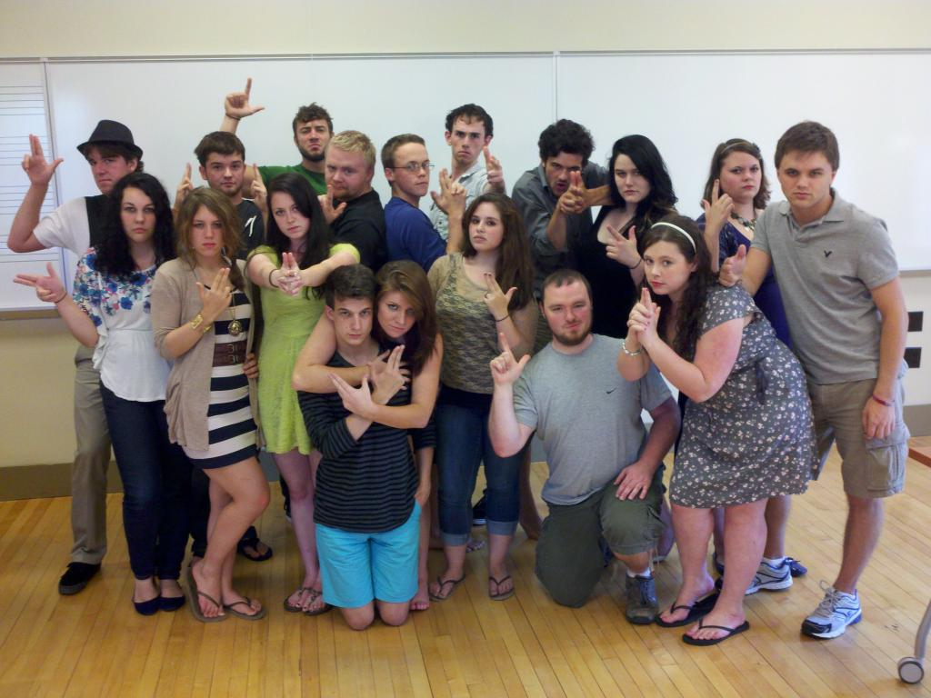 "USM musical theatre cast of ""Assassins"""